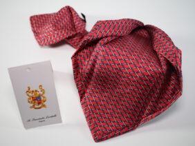 cravatta sette pieghe in seta twill