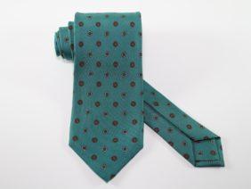 Three Fold Twill Silk Tie - green