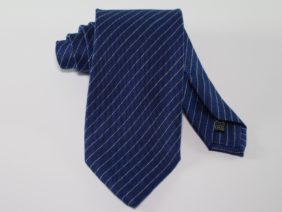 Wool/Silk/Cashmere tie - blue