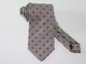 Three fold jacquard silk tie - grey