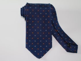 Three Fold Twill Silk Tie - blue