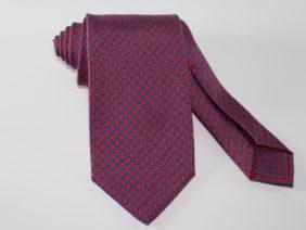Cravatta tre pieghe in seta twill rossa