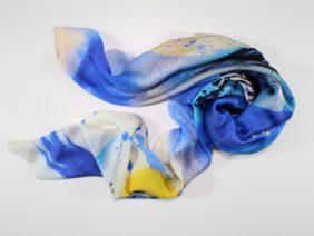 Silk scarf Kirameki by Midori Mccabe