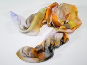 Silk scarf Summer sand by Midori Mccabe