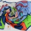Silk scarf 140x140 Marzo Pazzerello by Antoh Mansueto