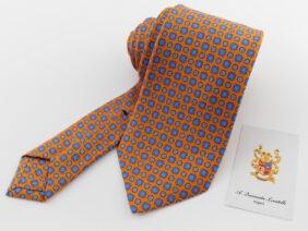 cravatta tre pieghe sartoriale in seta twill
