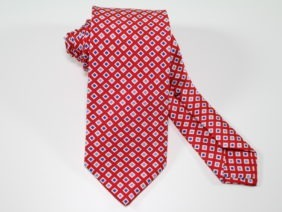 Three Fold Silk Tie red