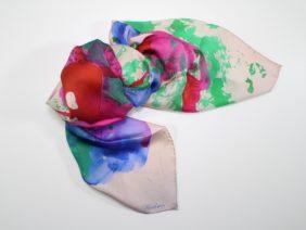 Silk scarf Pink by Midori Mccabe