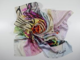 Silk scarf Contained - Whirlwind by Midori Mccabe
