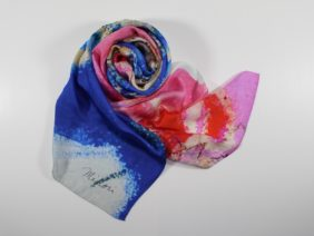 Silk scarf Love by Midori Mccabe