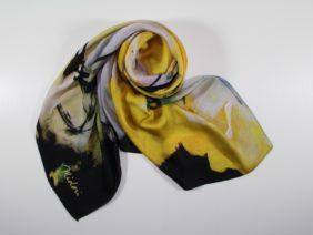 Silk scarf Haru Ichiban by Midori Mccabe