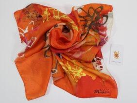 Silk scarf 70x70  Luce del Sole by Midori Mccabe