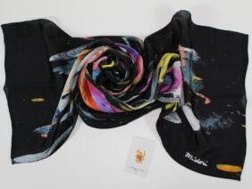 Silk scarf Dream Flight by Midori Mccabe