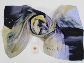 Silk scarf Convergence by Midori Mccabe
