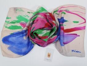 sciarpa in seta pink by Midori McCabe