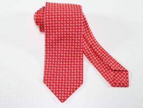 Three fold silk tie red