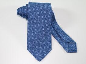cravatta tre pieghe in seta twill blu