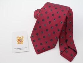 cravatta tre pieghe in seta twill