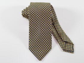 Three fold silk tie yellow