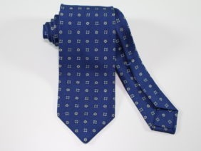 Three Fold Silk Tie Blue