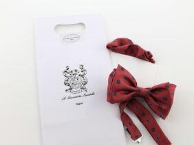Silk bow tie with pocket handkerchief